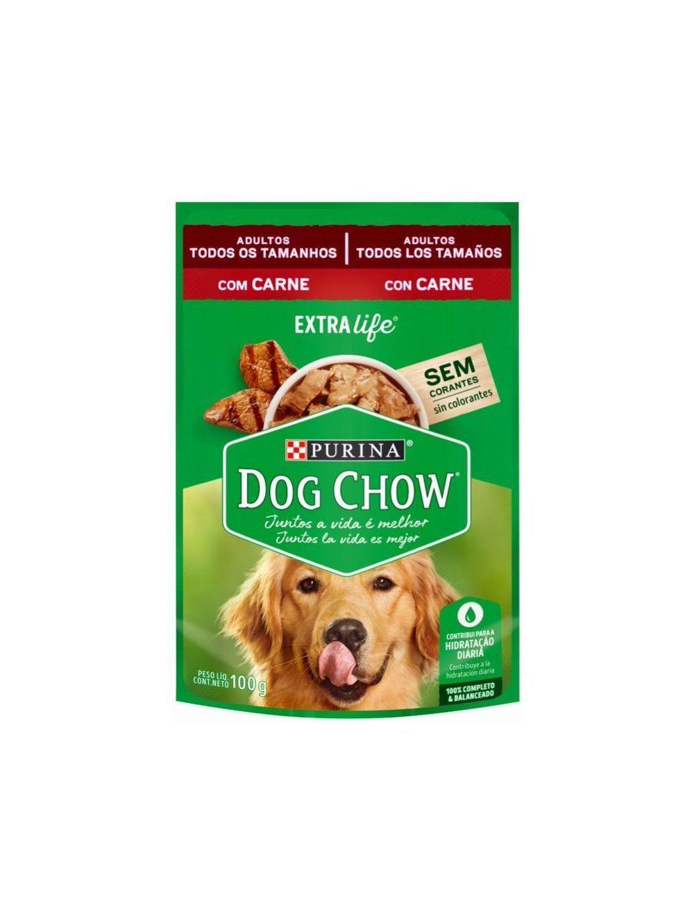 Pouch para Perros Dog Chow Pouche Carne - Ciudaddemascotas.com