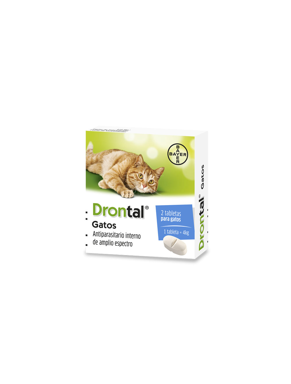 Antiparasitario para gatos Drontal Tabletas-Ciudaddemascotas.com