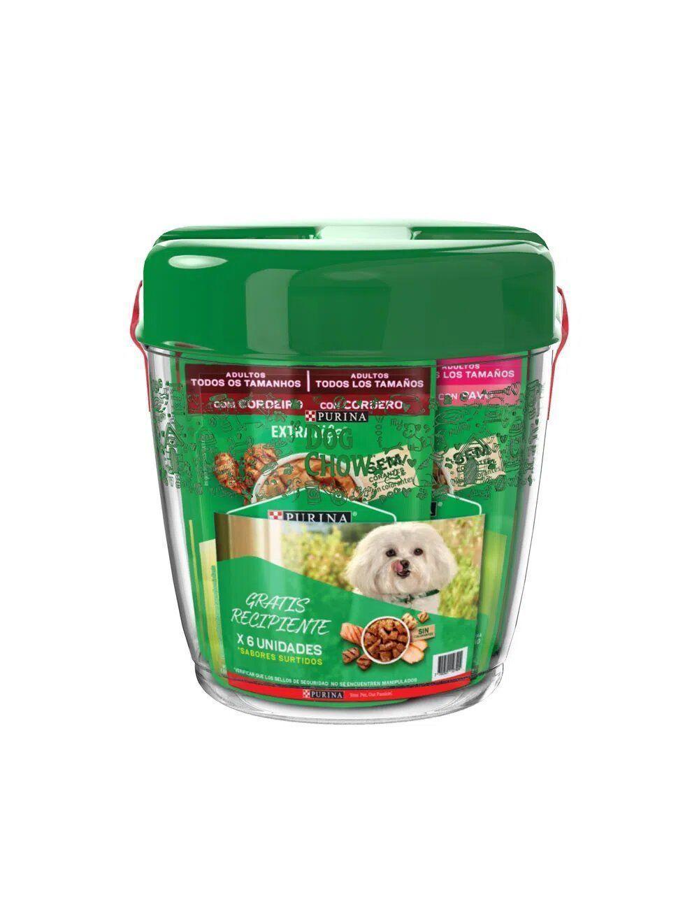 Comida Dog Chow Pouch Surtido x 6 Pote - ciudaddemascotas.com