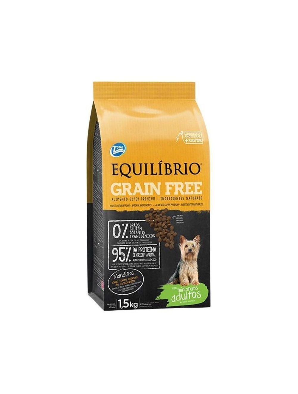 Equilibrio Perro Adulto Miniatura Grain Free x  1.5 Kg
