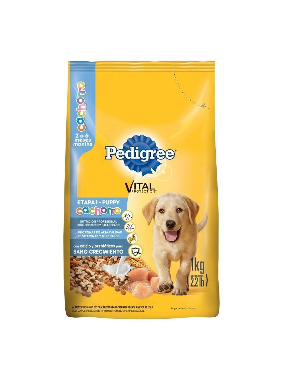 Comida para Perros Pedigree Cachorro Etapa 1- Ciudaddemascotas.com