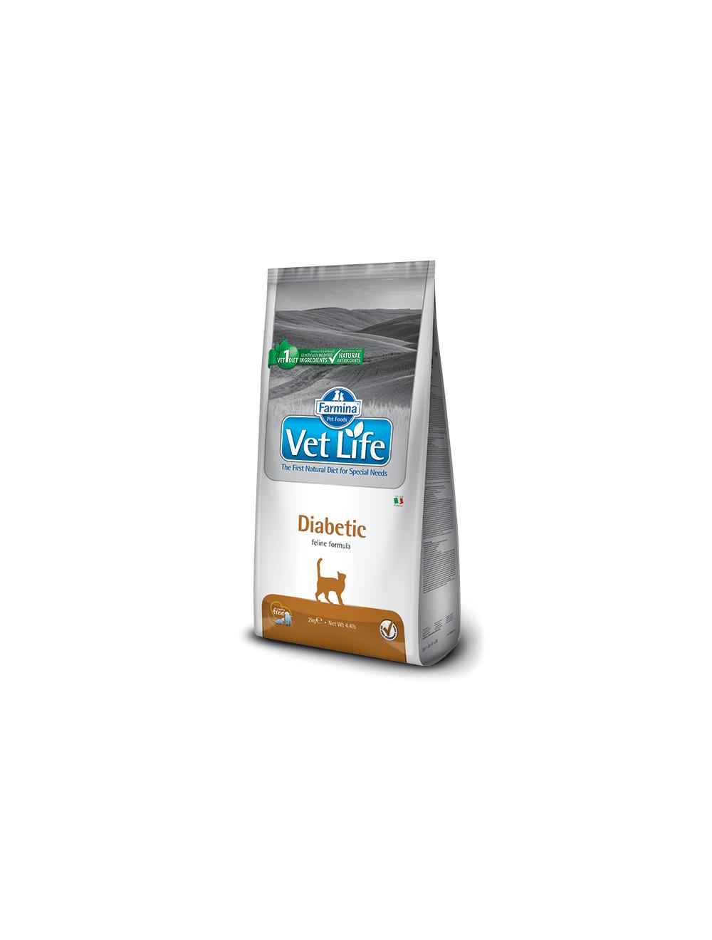 Comida para Gatos VET LIFE FELINE DIABETIC-Ciudaddemascotas.com