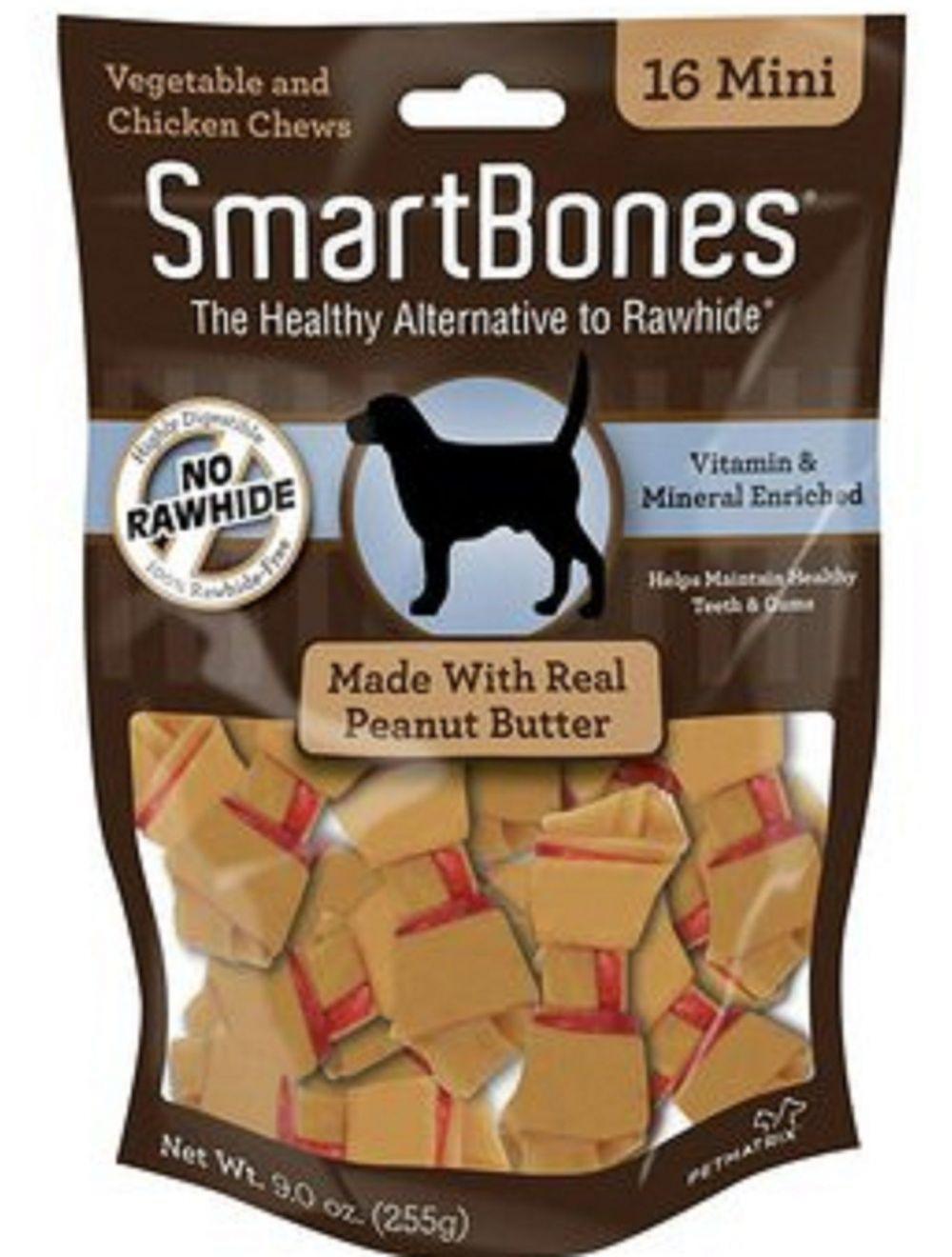 Smartbones Peanut Butter Mini x 16 Piezas