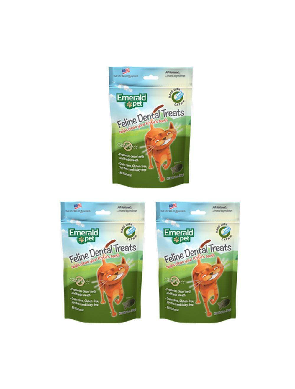 Emerald Pet Snack Para Gatos Dental Catnip combo x3und - Ciudaddemascotas.com