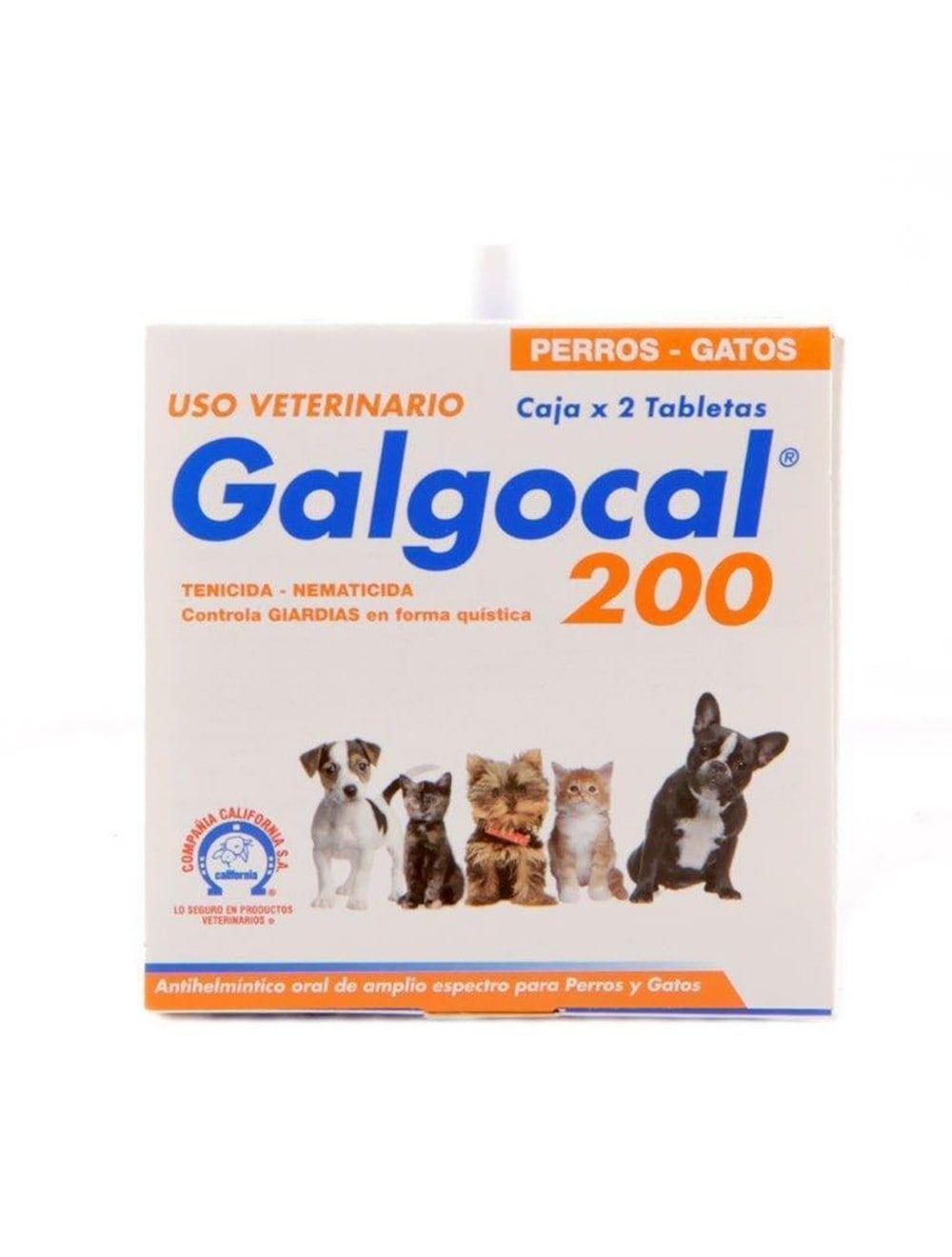 Desparasitante GALGOCAL 200 MG X 2 TB - Ciudaddemascotas.com