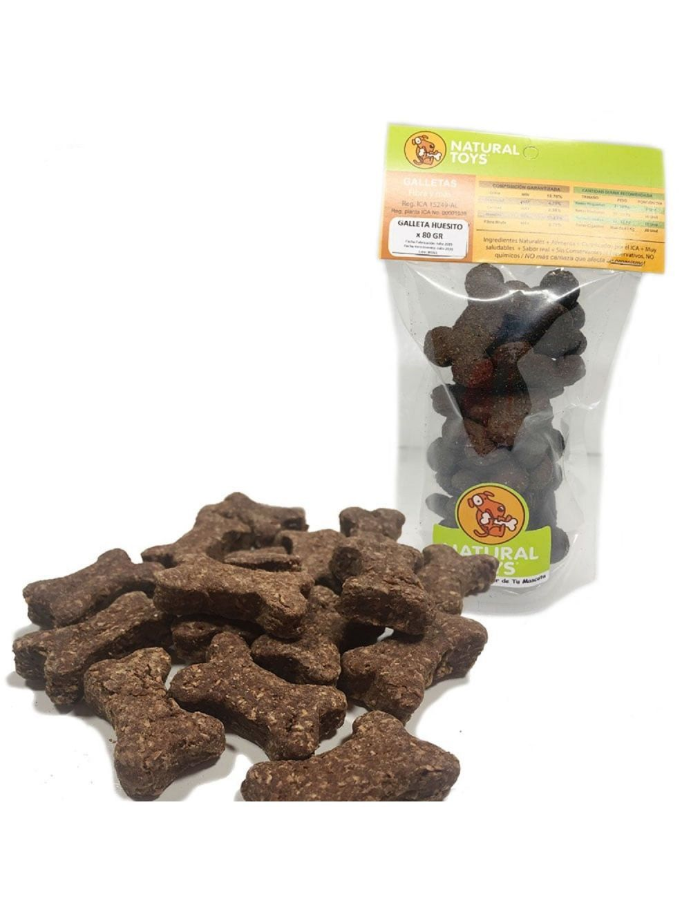 Snacks para perro Galletas de hígado y fibra - Ciudaddemascotas