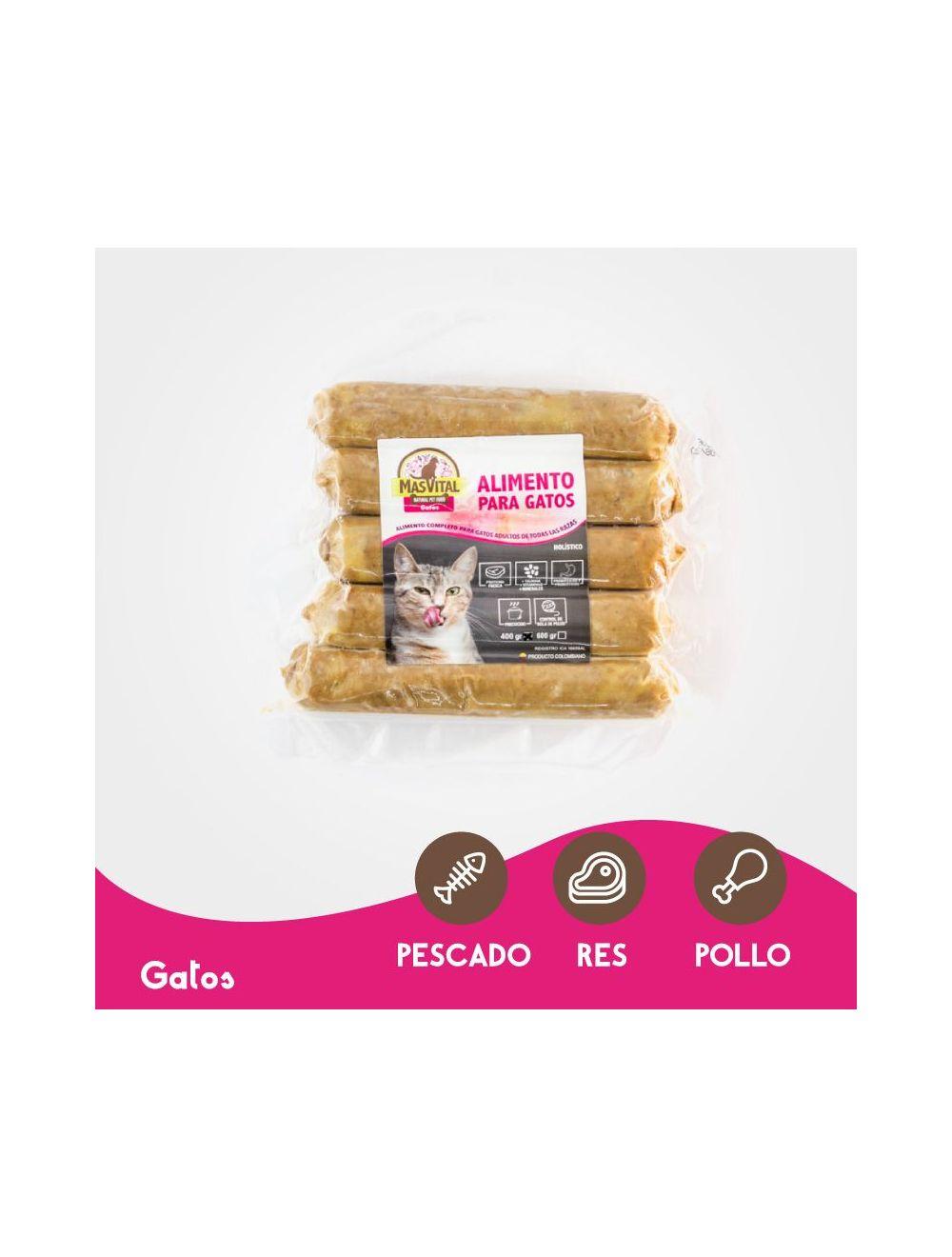 MasVital Gatos Adultos Mix Salchichas por 400 gr - Ciudaddemascotas.com