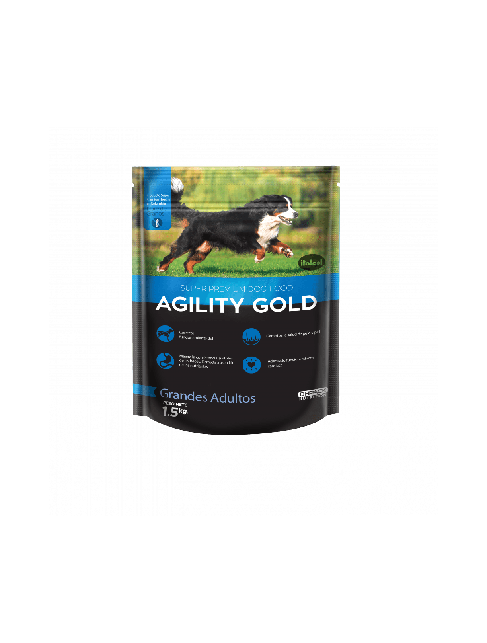 Agility Gold Grandes Adultos Combo 1.5Kg x 10 Und - Ciudaddemascotas.com