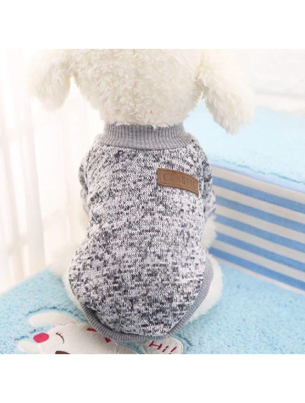 Suéter, buzo, abrigo para perro o gato Valentin For Pets en algodón Gris Talla XXL - Ciudaddemascotas.com