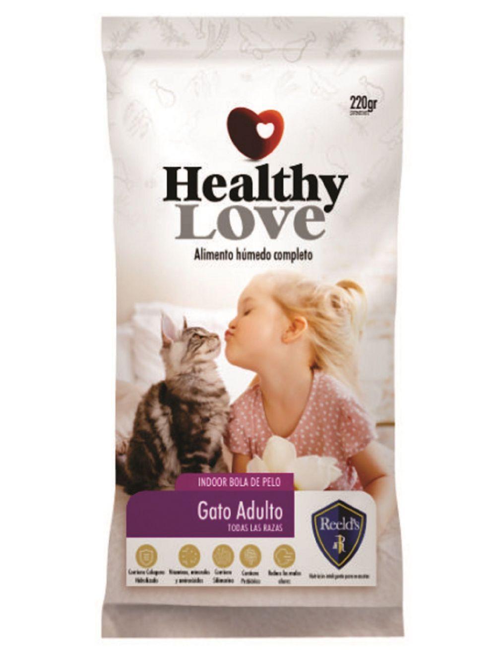 Comida húmeda para gatos Healthy Love Adultos-Ciudaddemascotas.