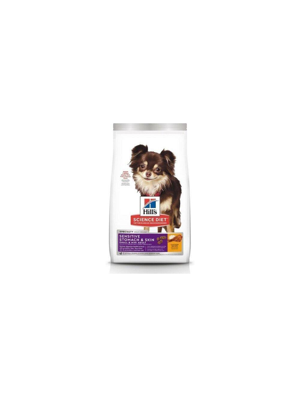 Hills Perro Adulto Sensitive Stomach and Skin Mini 1,8Kg - Ciudaddemascotas.com