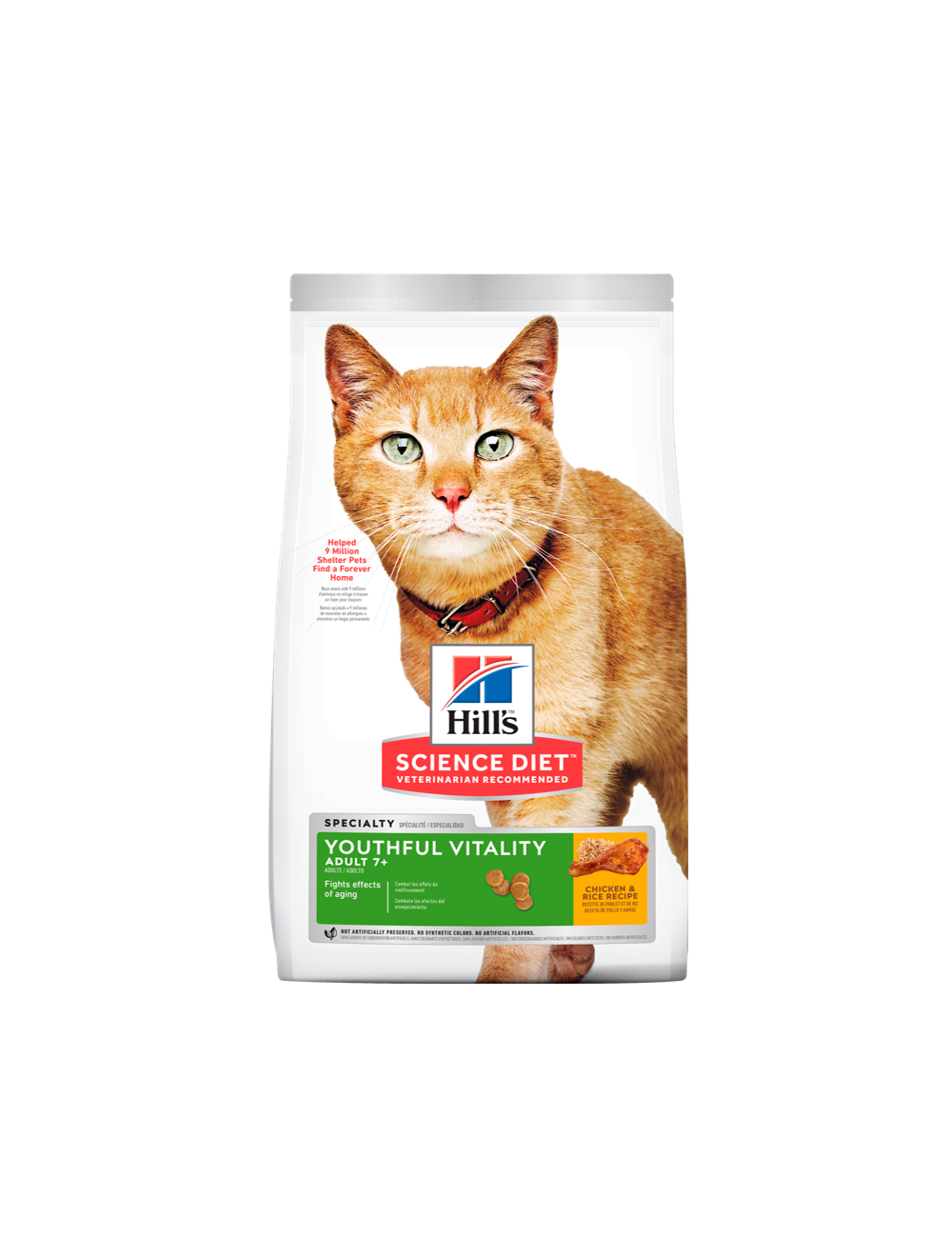 Hills Gato Youthful Vitality Adult 7+ Chicken And Rice 1,36Kg