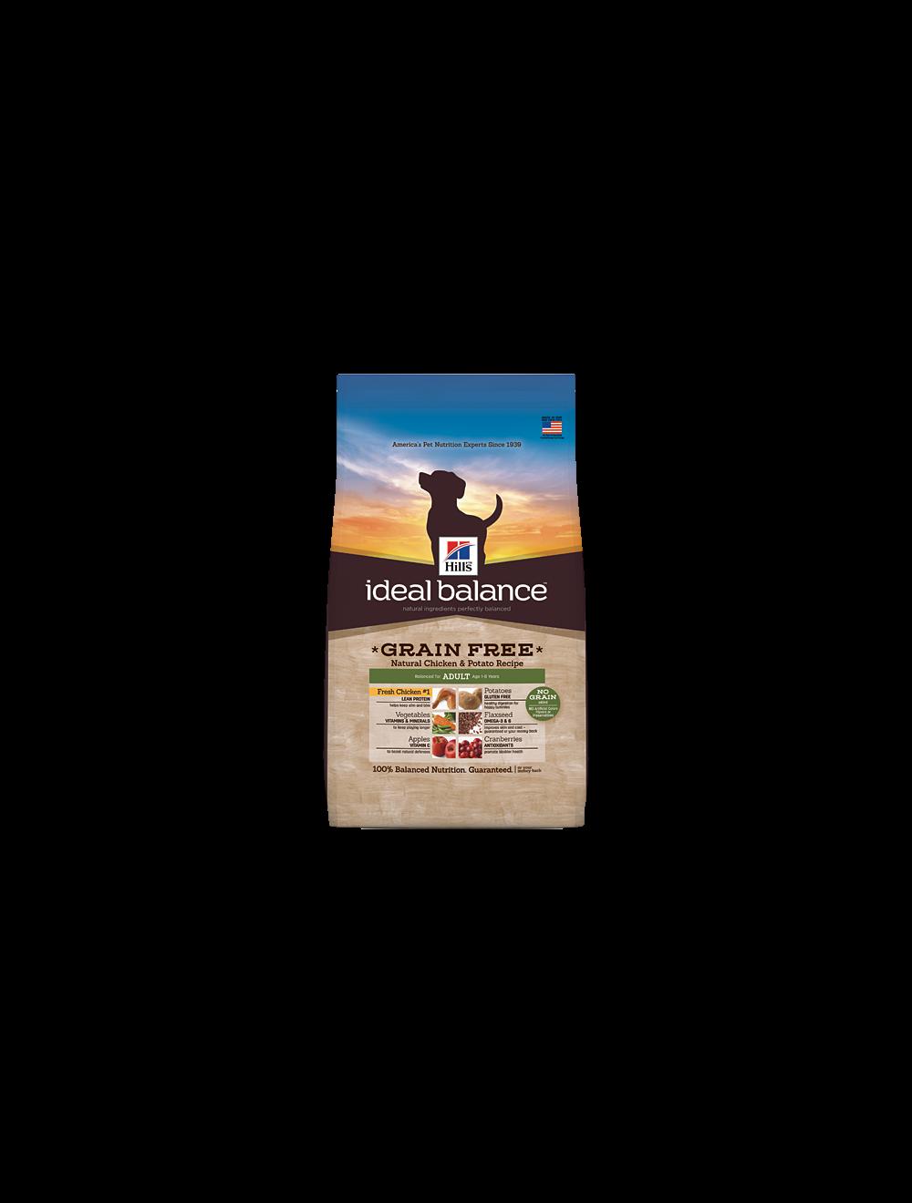 Hill's Ideal Balance Grain Free Natural Chicken and Potato 9,5 Kg (Producto disponible para entrega en la ciudad de Medellín resto del país 4 días habiles)
