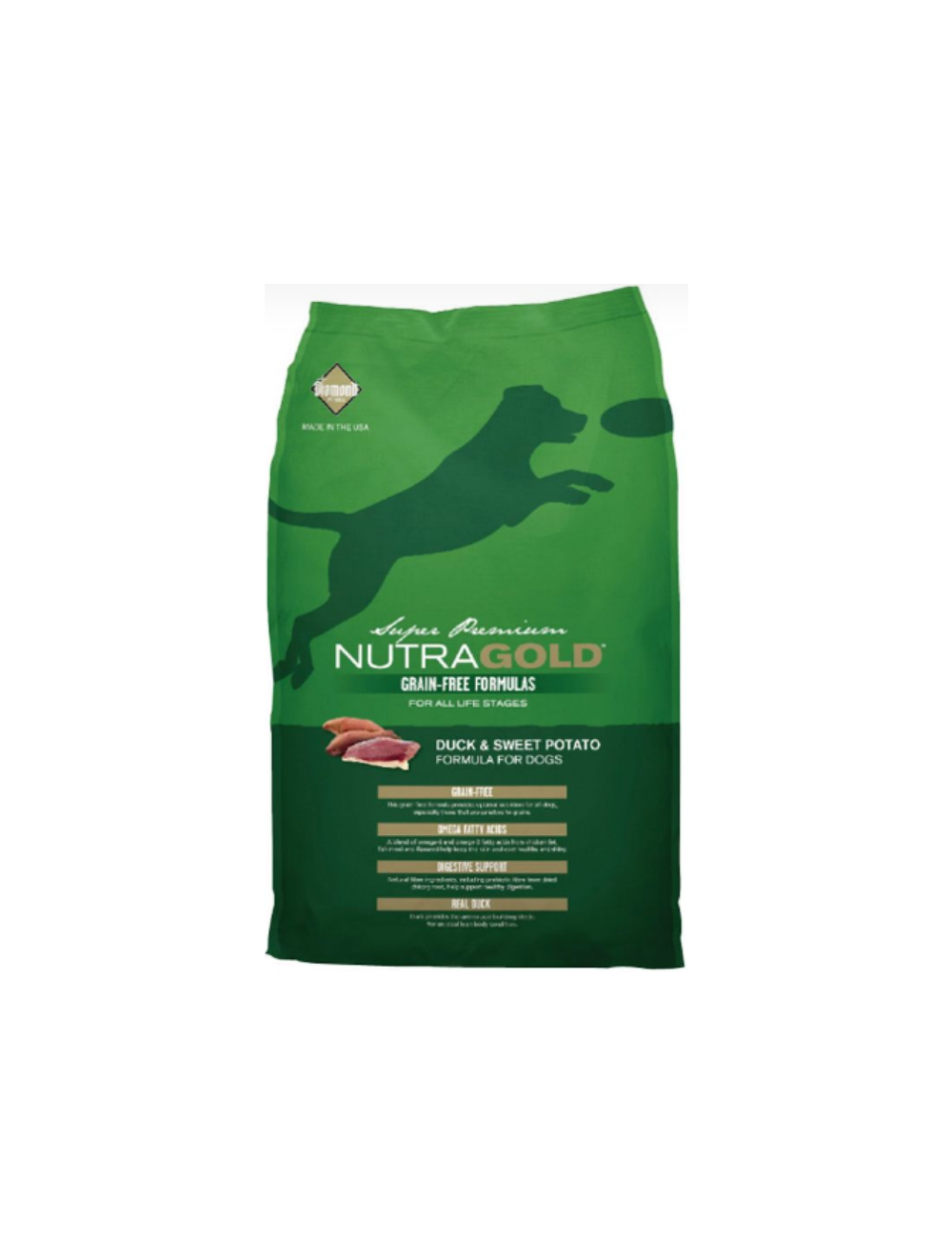 Nutra Gold Dog Grain Free Duck and Sweet Potato x 2.25Kg