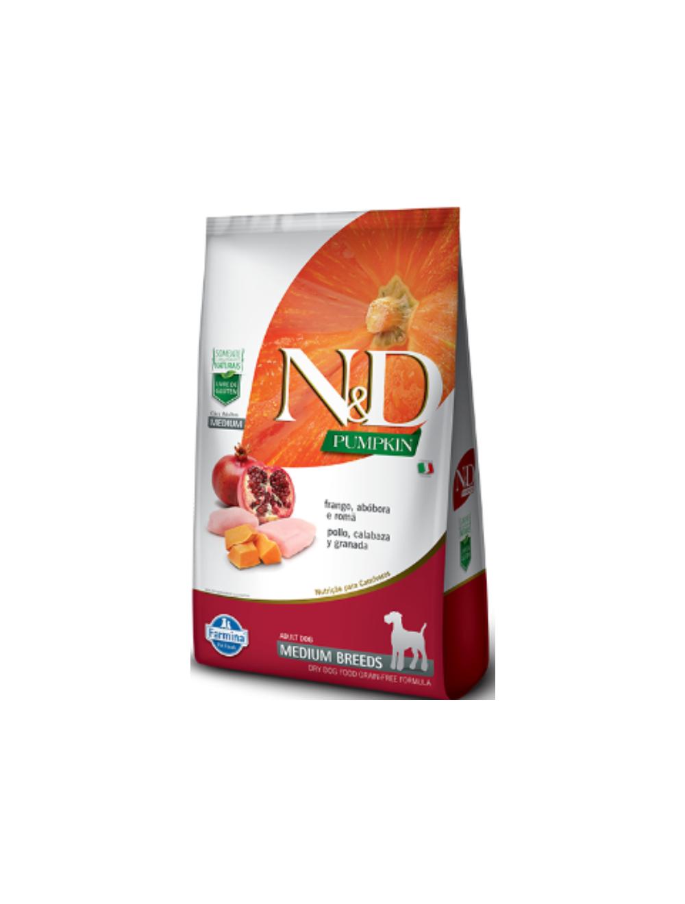 Comida para perro N&D Pumpkin Adult Medium Frango-Ciudaddemascotas