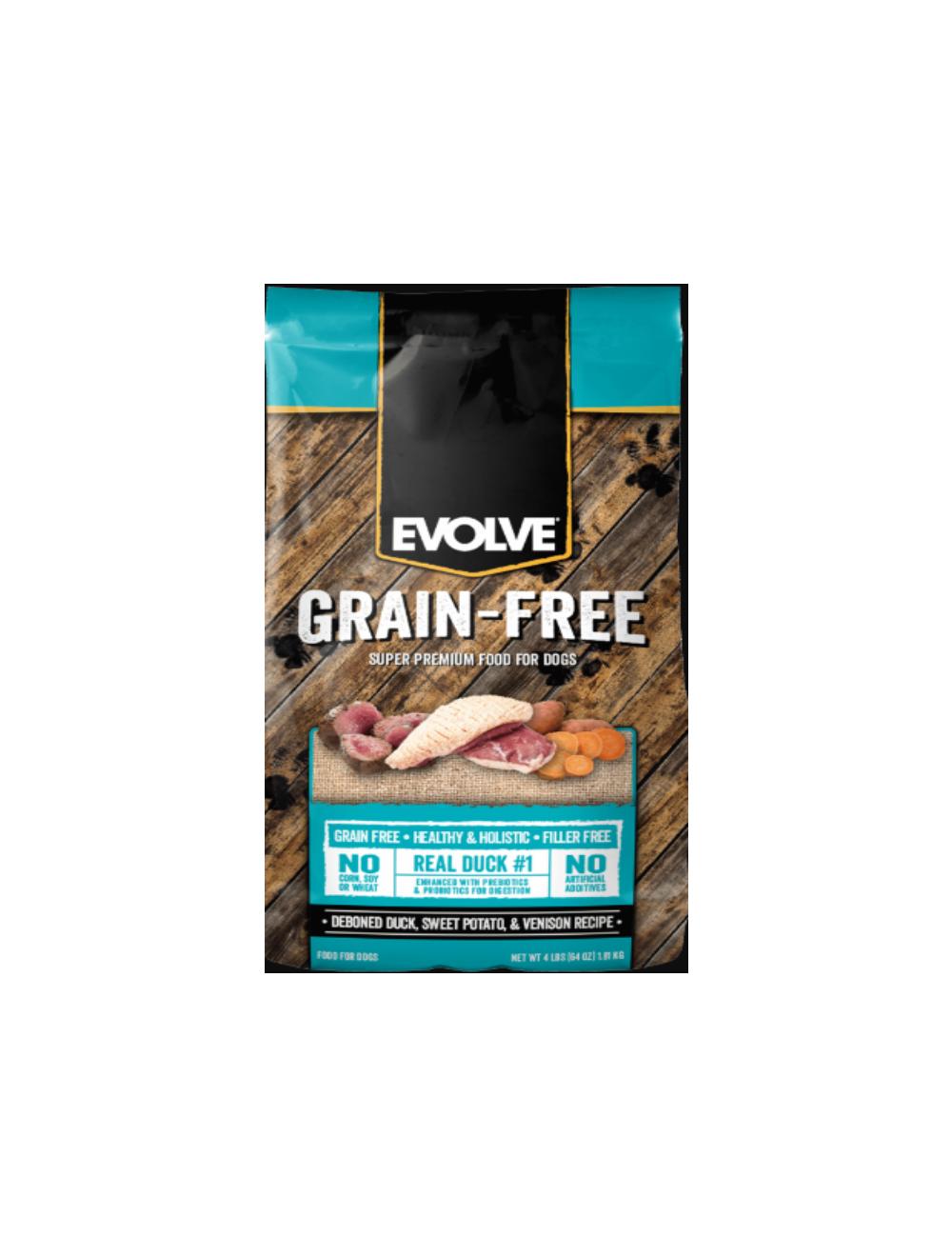 Evolve Dog Grain Free Duck  4.98 Kg