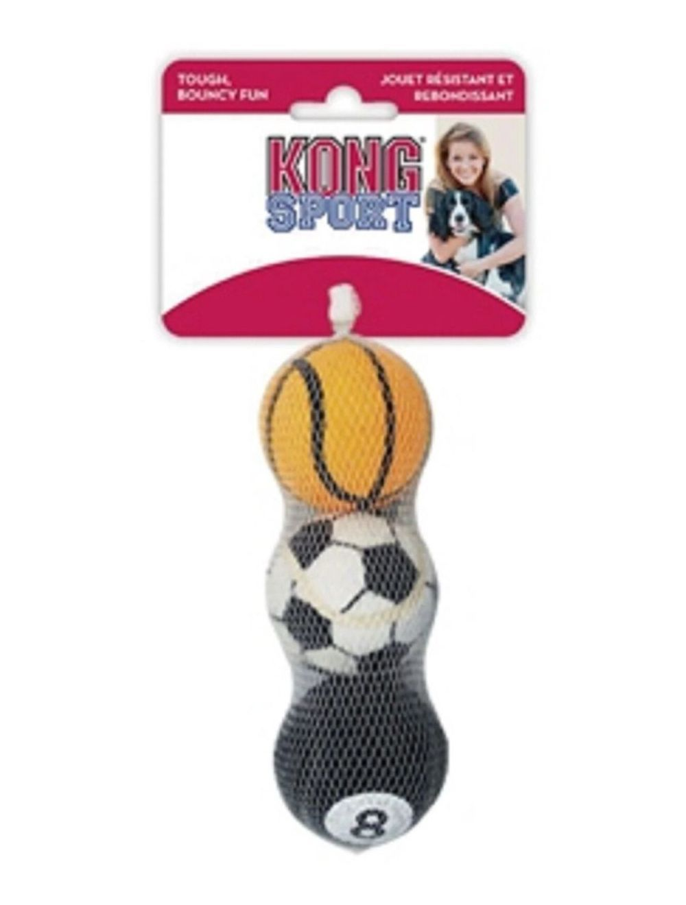 Juguete Kong sports balls pelota small x3 - Ciudaddemascotas.com