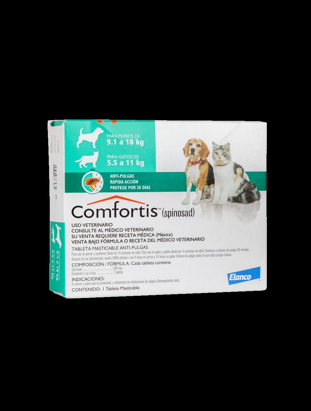 Comfortis Perros 9 a 18 Kg y Gatos de 5.5 a 11 Kg
