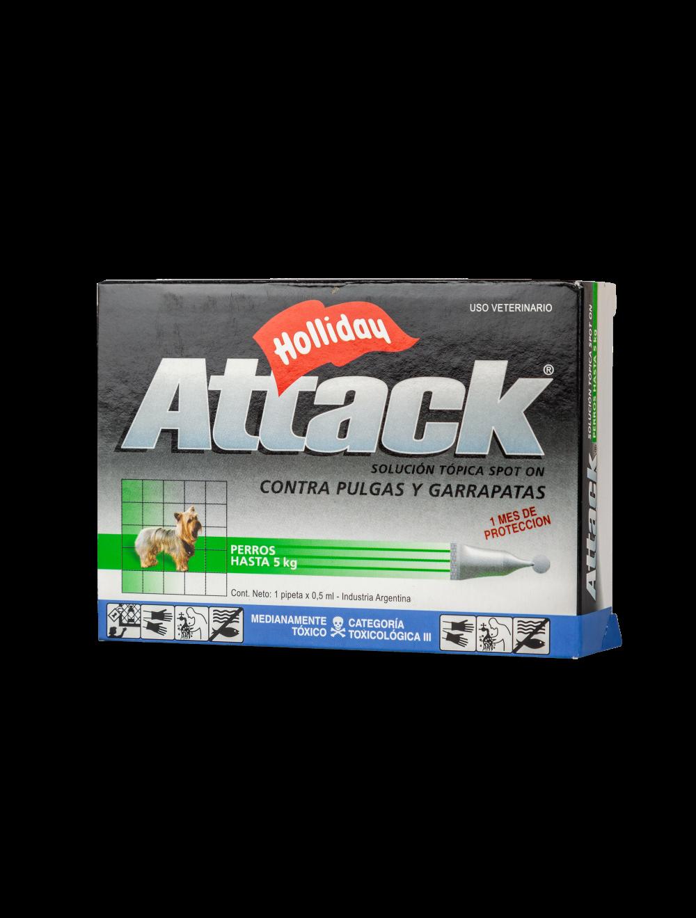 Antipulgas para perros Attack  5Kg- Ciudaddemascotas.com
