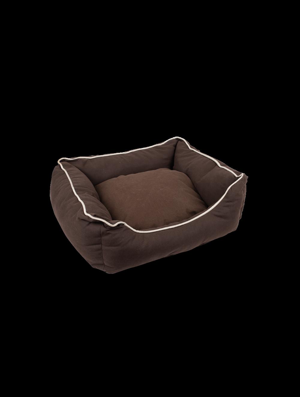 Cama tipo sofá para perros y gatos talla S Café