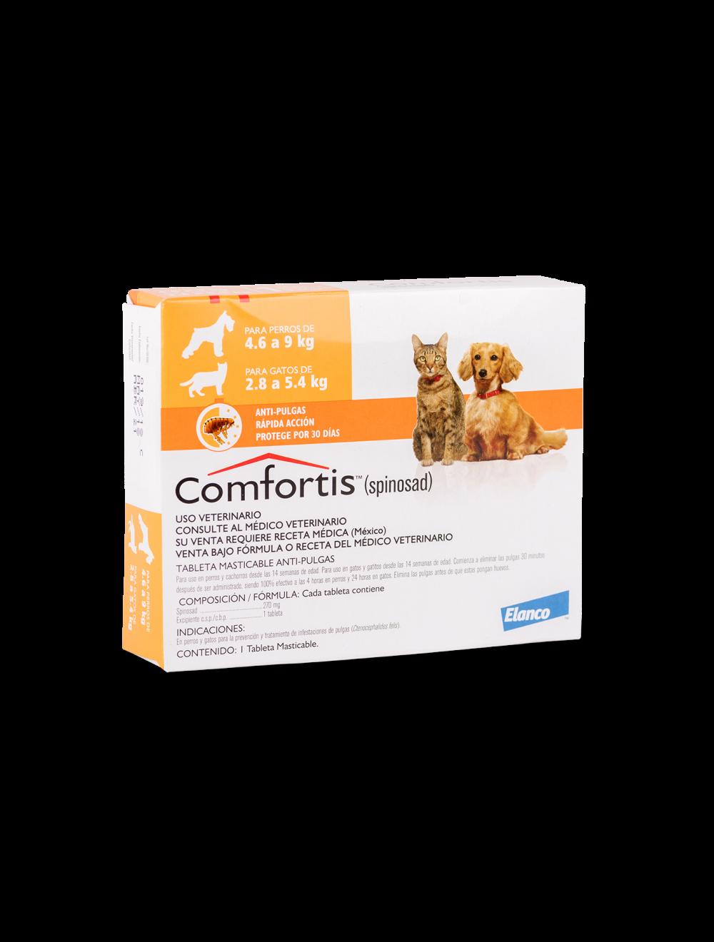 Comfortis Perros 4 a 9 Kg y Gatos 2.8 a 5.4 kg