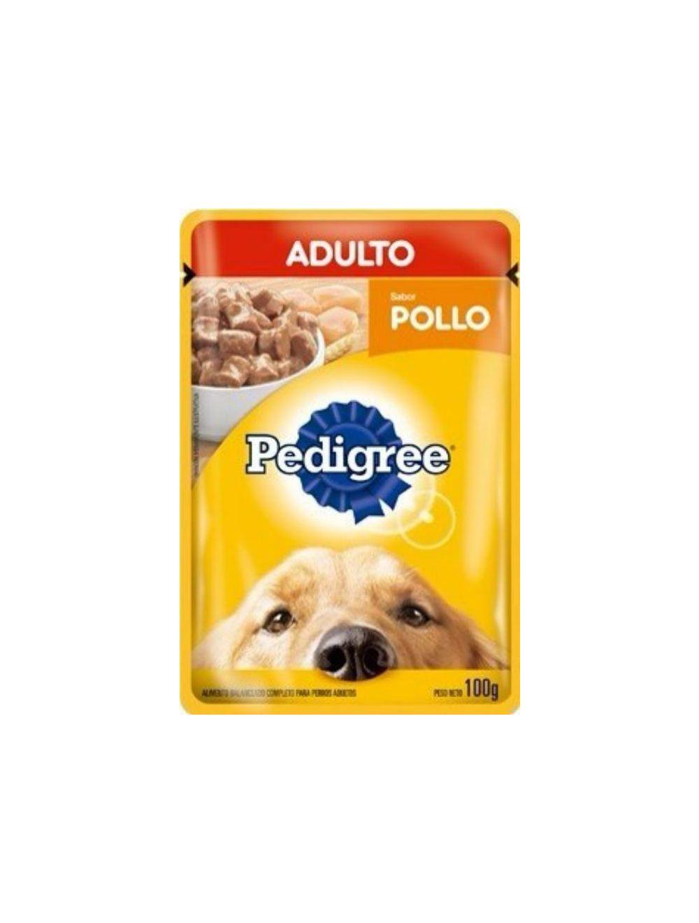 Pedigree Pouch Adulto Pollo 100 g - Ciudaddemascotas.com