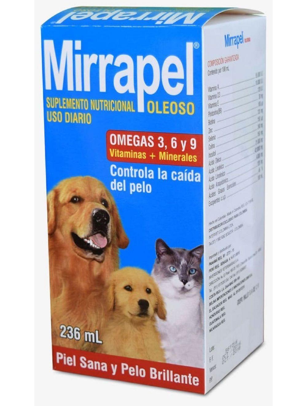 Mirrapel para Mascotas Oleoso Suplemento x 236 ml
