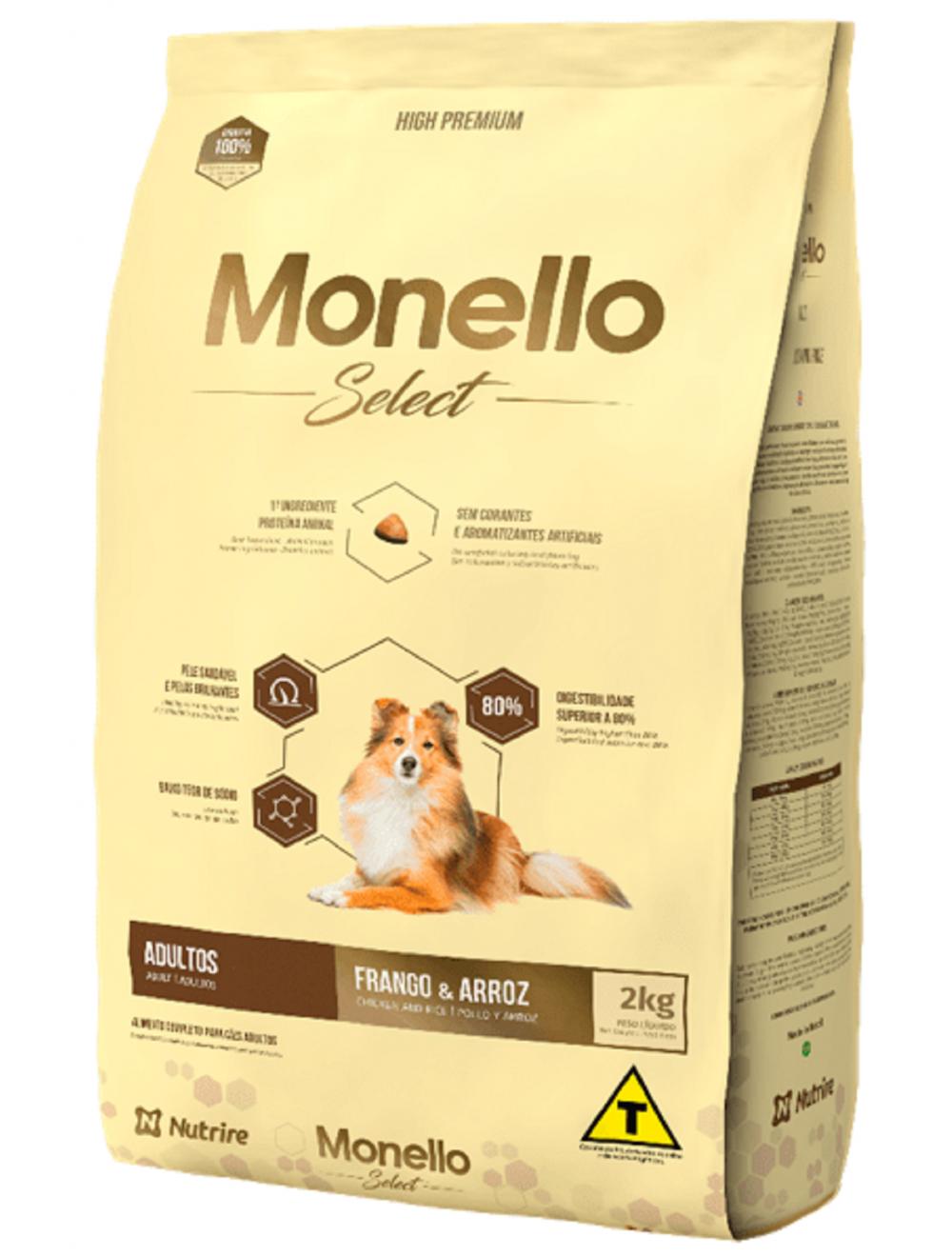 Monello Select Dog Adulto Pollo y Arroz 7 kg