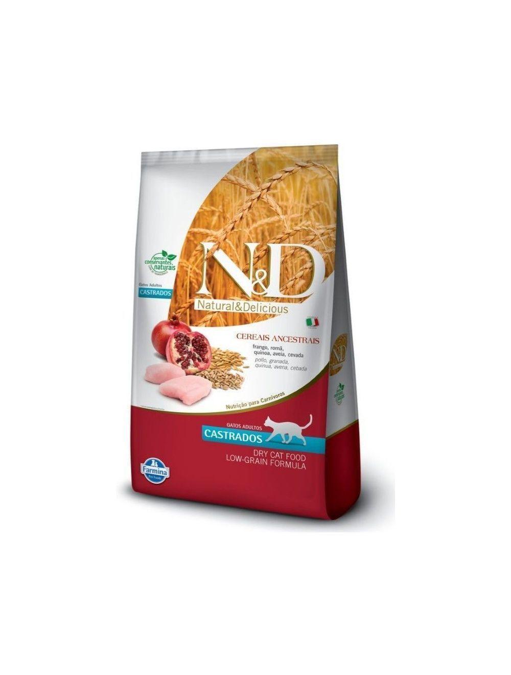 Comida N&D Ancestral Feline Frango Castrado -ciudaddemascotas.com