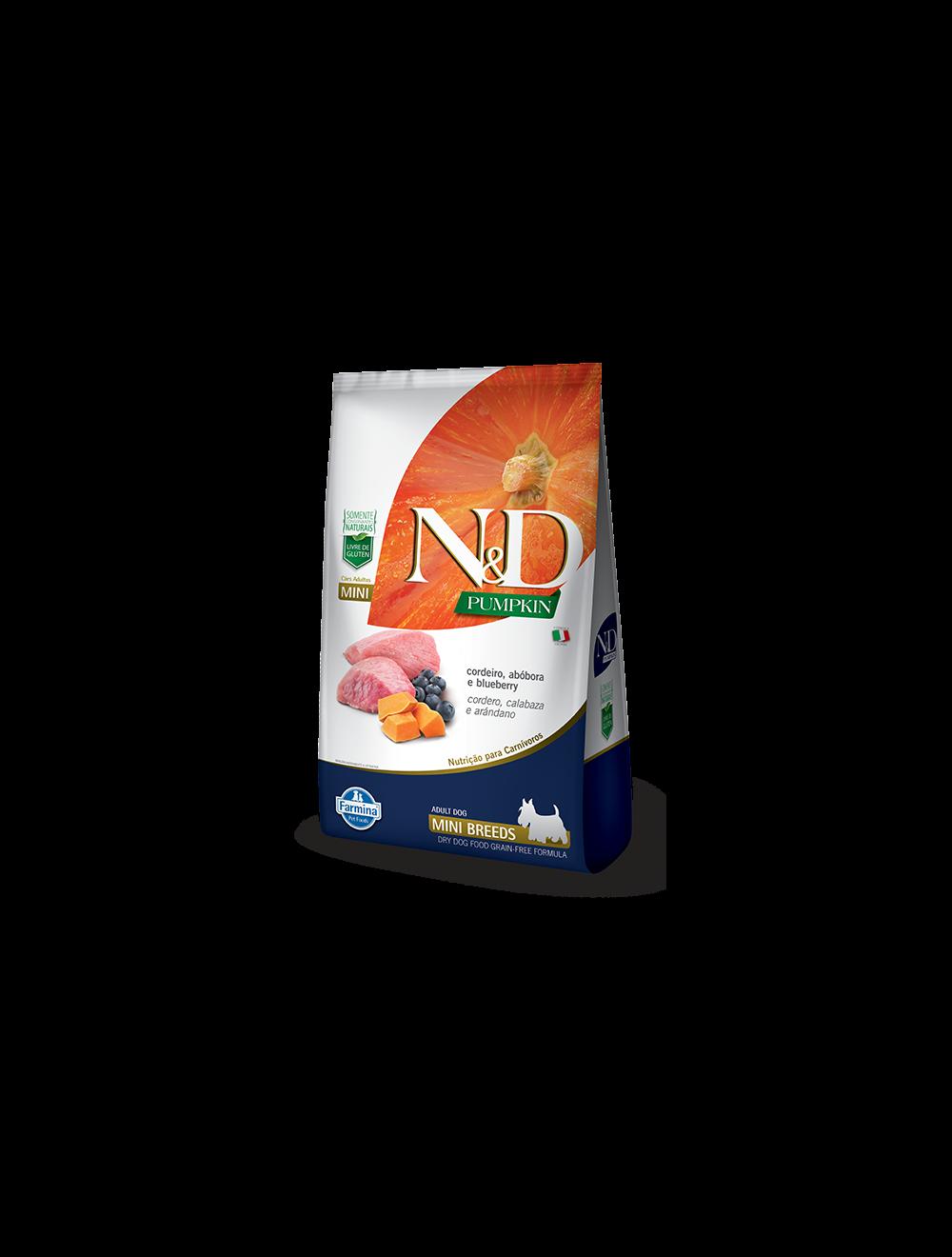 N&D Pumpkin Adult Mini Cordeiro 2.5 Kg