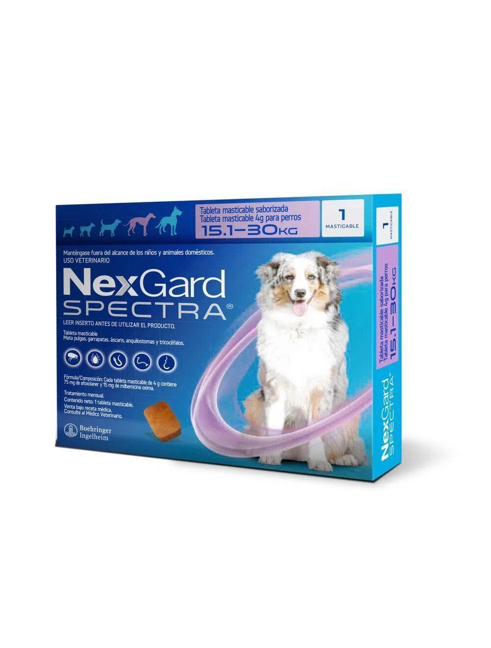 Nexgard Spectra 15.1 - 30 Kg - Ciudaddemascotas.com