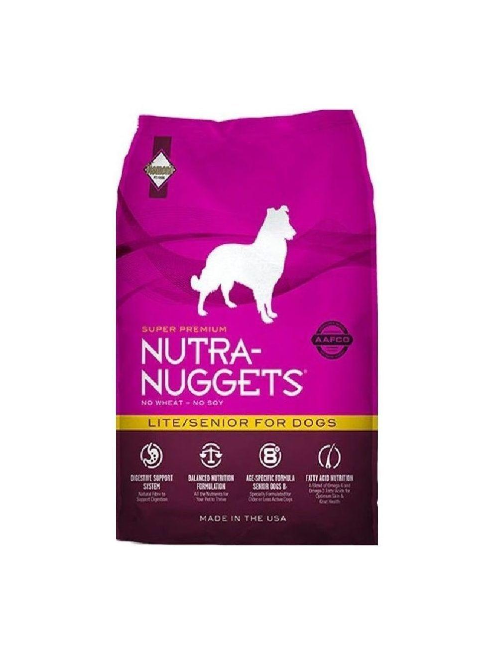 Nutra Nuggets Lite Senior para Perros (7,5 Kg) - Ciudaddemascotas.com