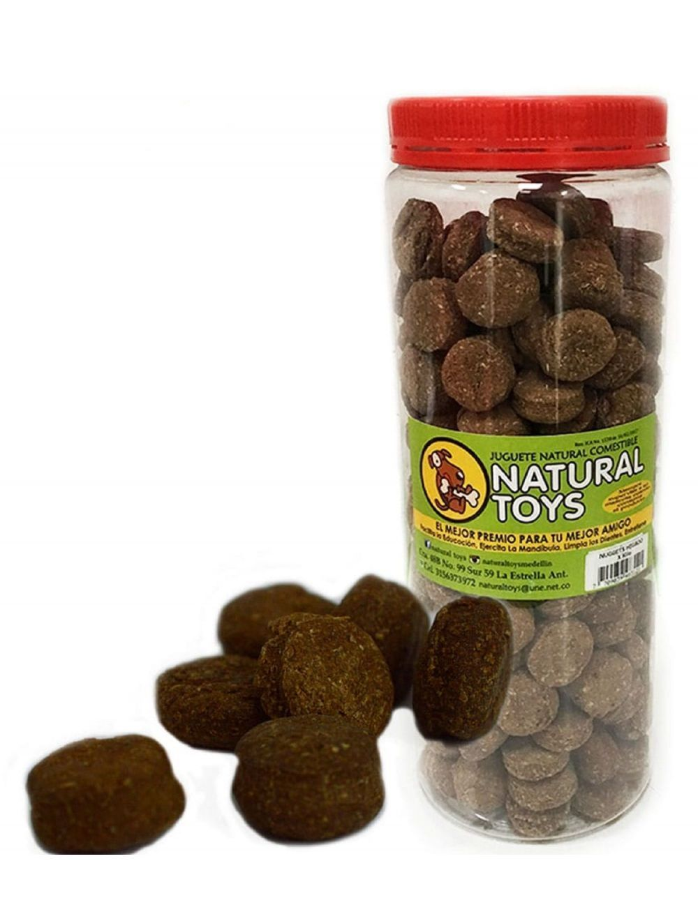 Snacks para perros NUGGETS DE HIGADO y FIBRA-Ciudaddemascotas.com