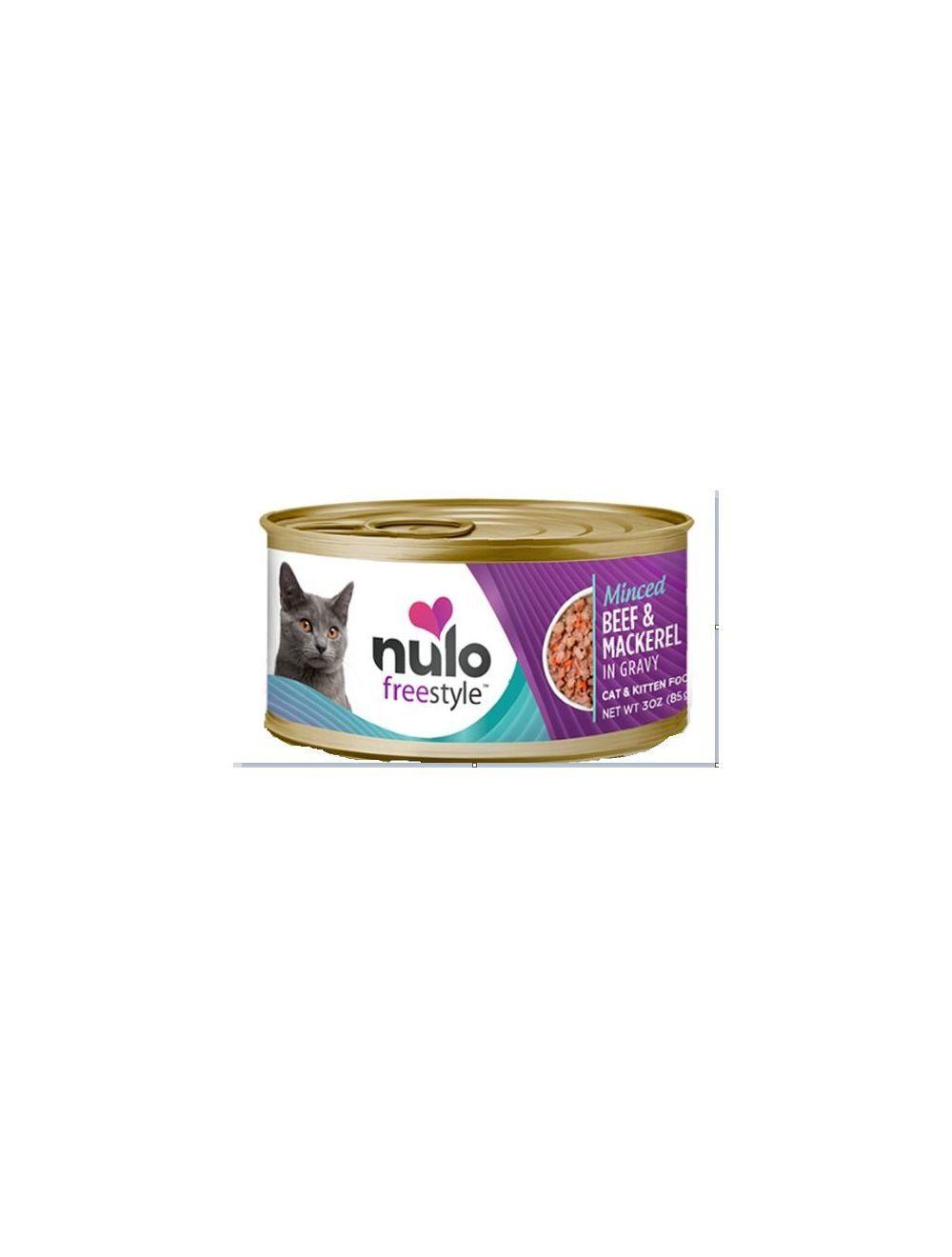 Nulo Lata Sabor a Res Sin Cereales De 85 gr - Ciudaddemascotas.com