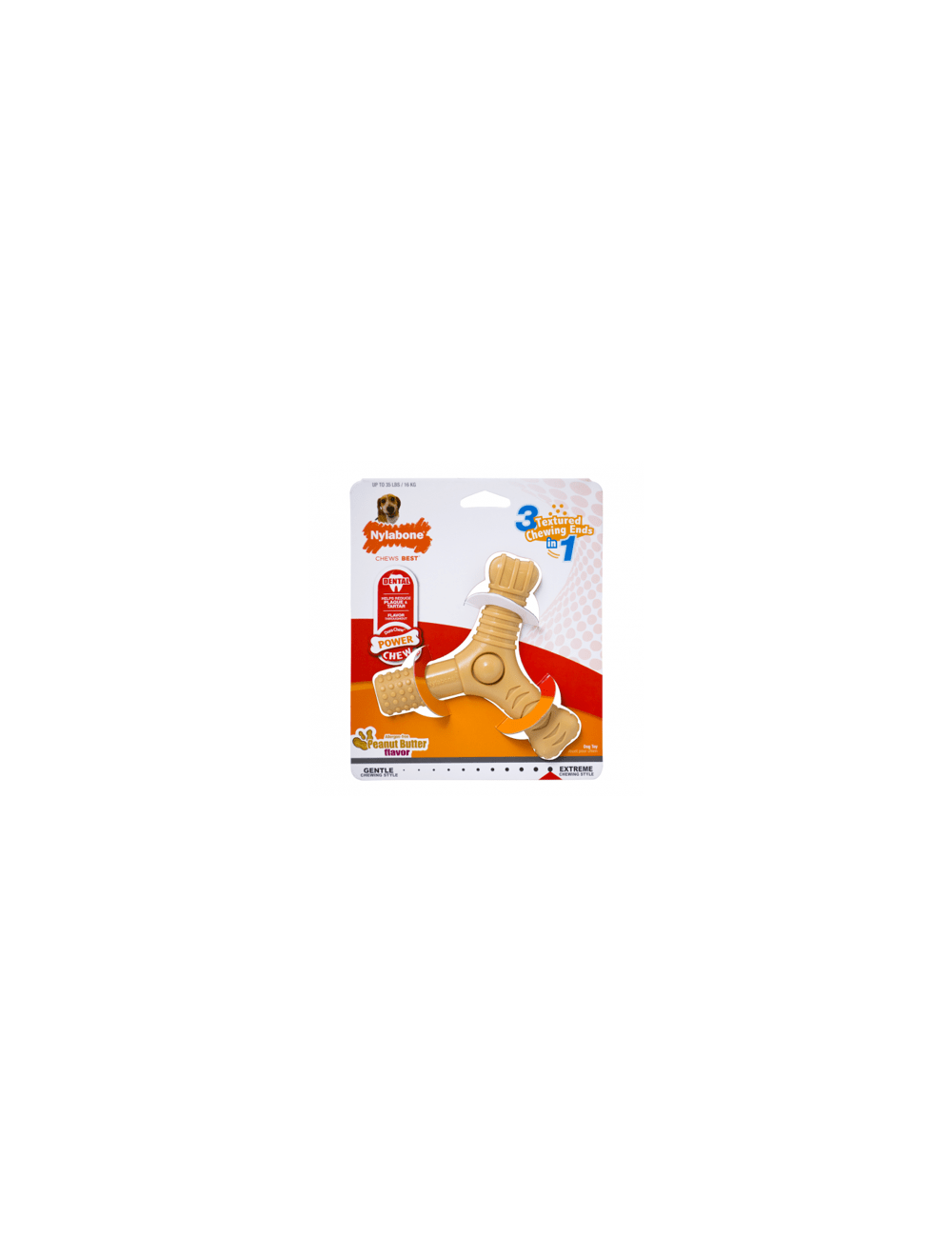 Nylabone power chew prong multitextura peanut - DESCONTINUADO