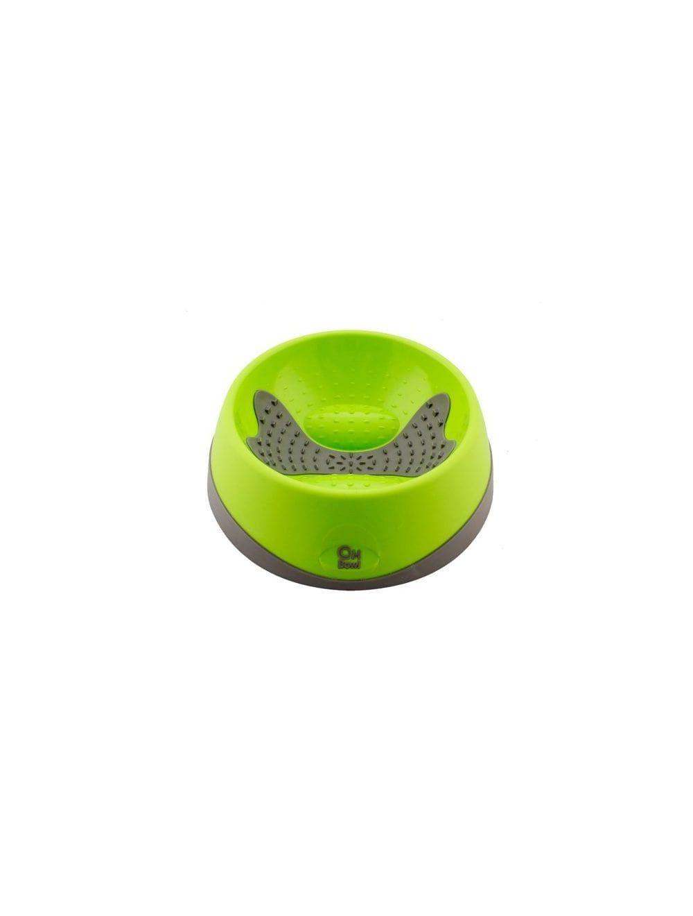 Hyper pet OHBowl verde mediano - Ciudaddemascotas.com