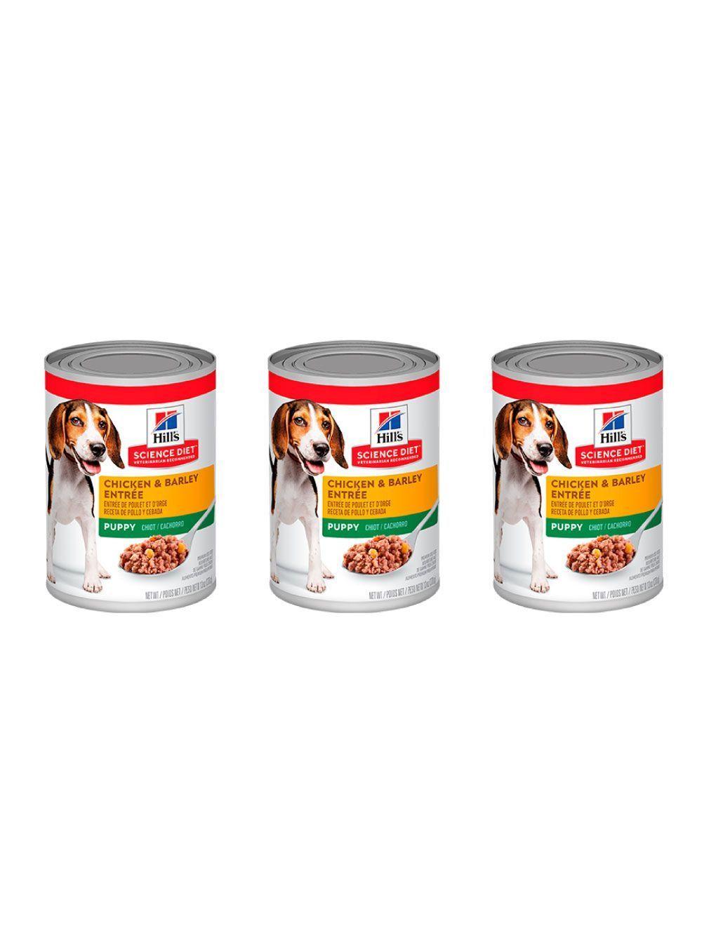 Hills Lata Puppy Savory Chicken 370 g combo x3und - Ciudaddemascotas.com