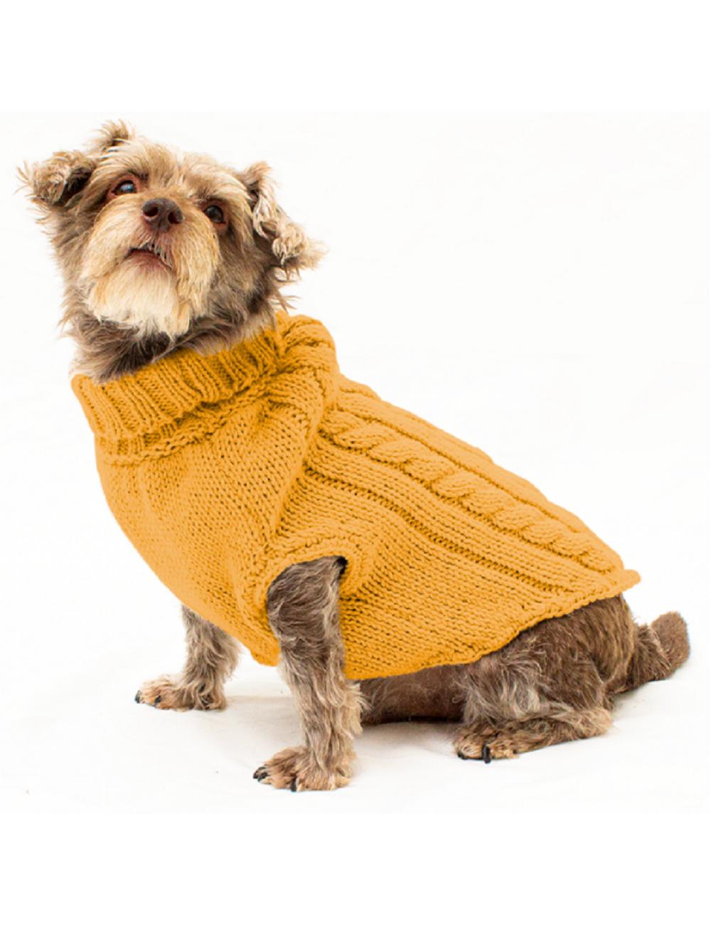 Ropa para perro Saco Parker amarillo Talla L - Ciudaddemascotas.
