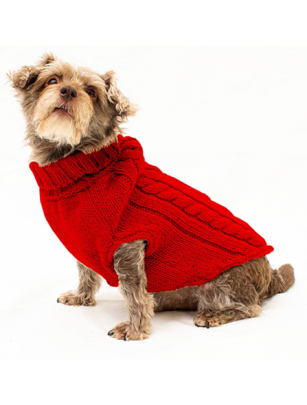 Saco Parker para Perros Rojo S