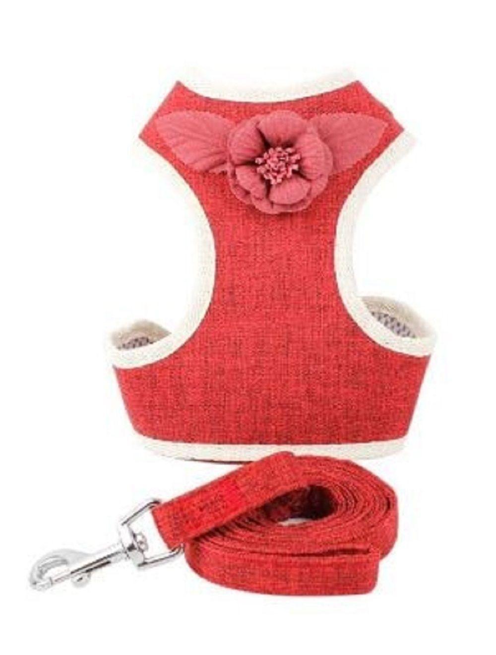 Pechera para Mascota Rosas - Rojo S - Ciudaddemascotas.com