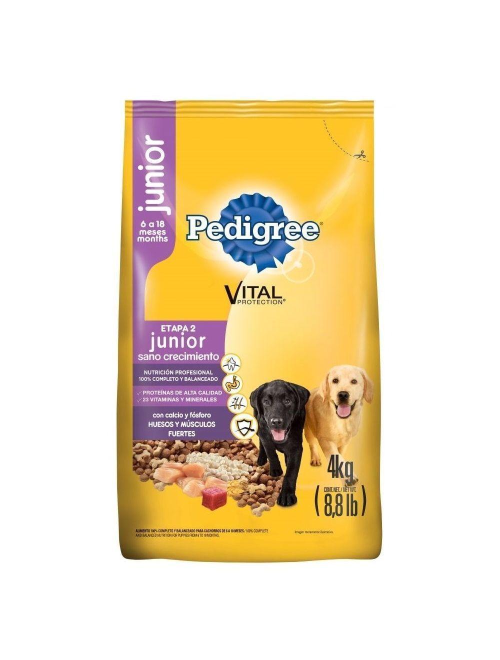 Comida para Perros Pedigree Junior-Ciudaddemascotas.com