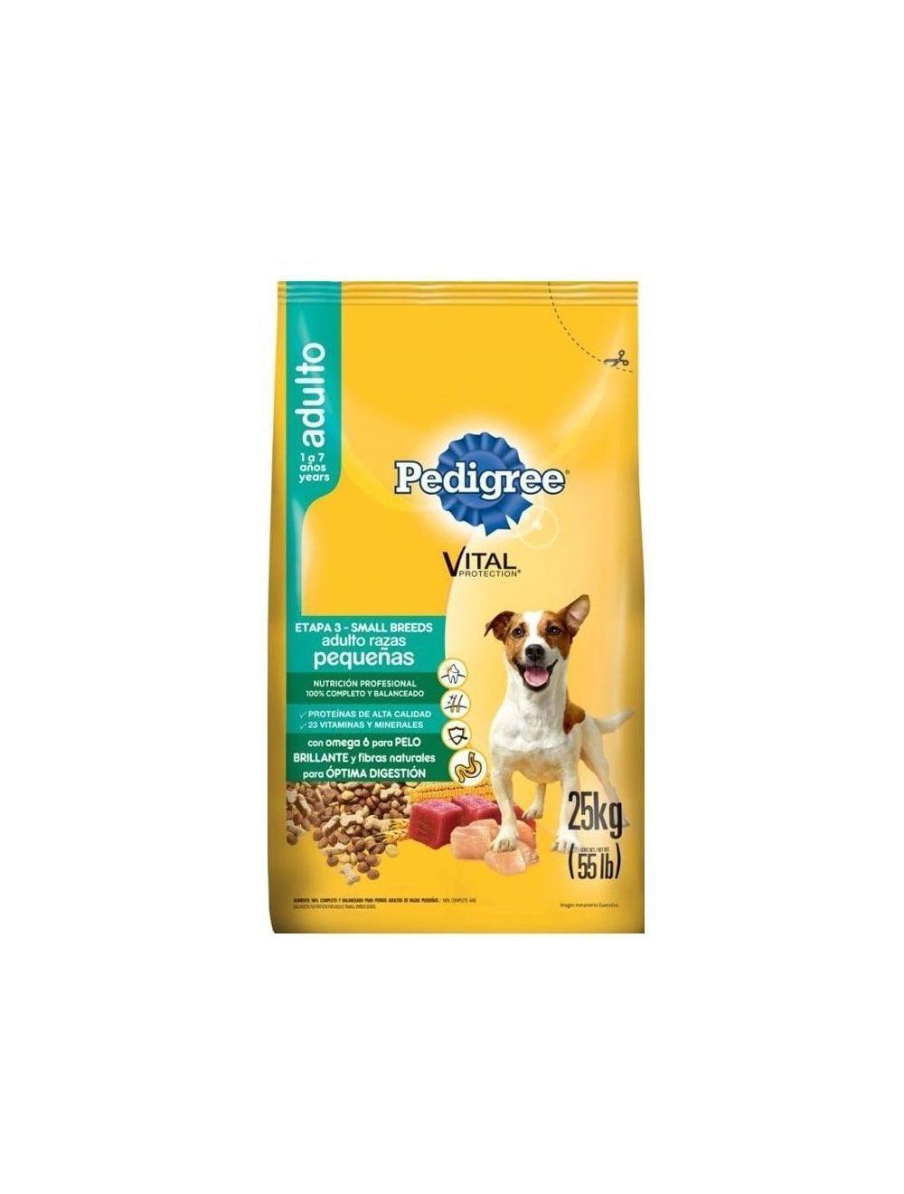 Comida para Perros Pedigree Razas Pequeñas-Ciudaddemascotas.com
