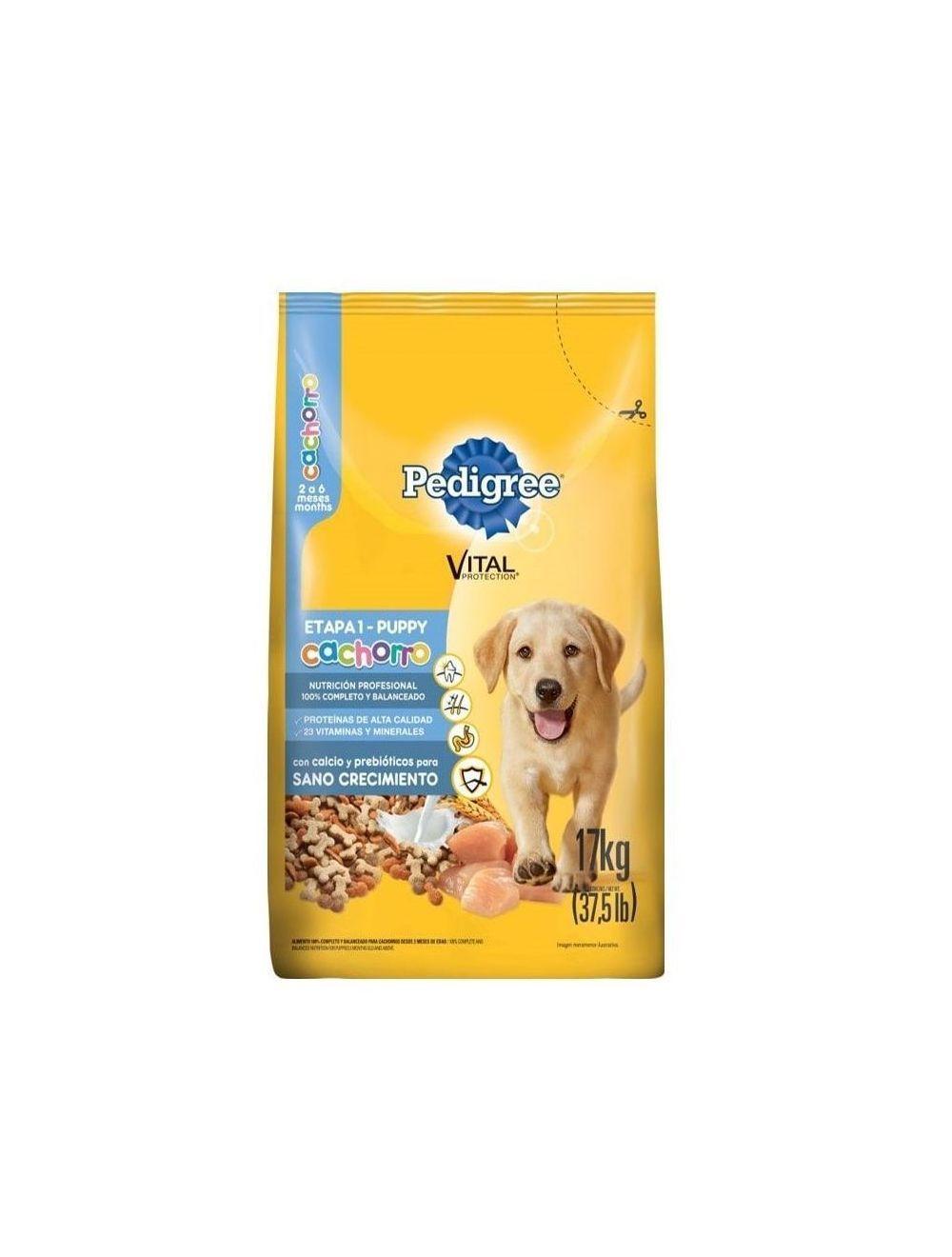 Comida para Perros Pedigree Cachorro Etapa 1-Ciudaddemascotas.com