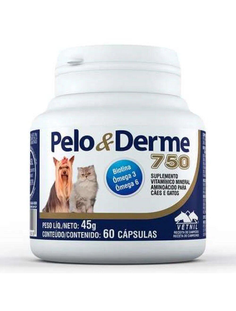 Pelo & Derme 750 x 60 Cápsulas - Ciudaddemascotas.com