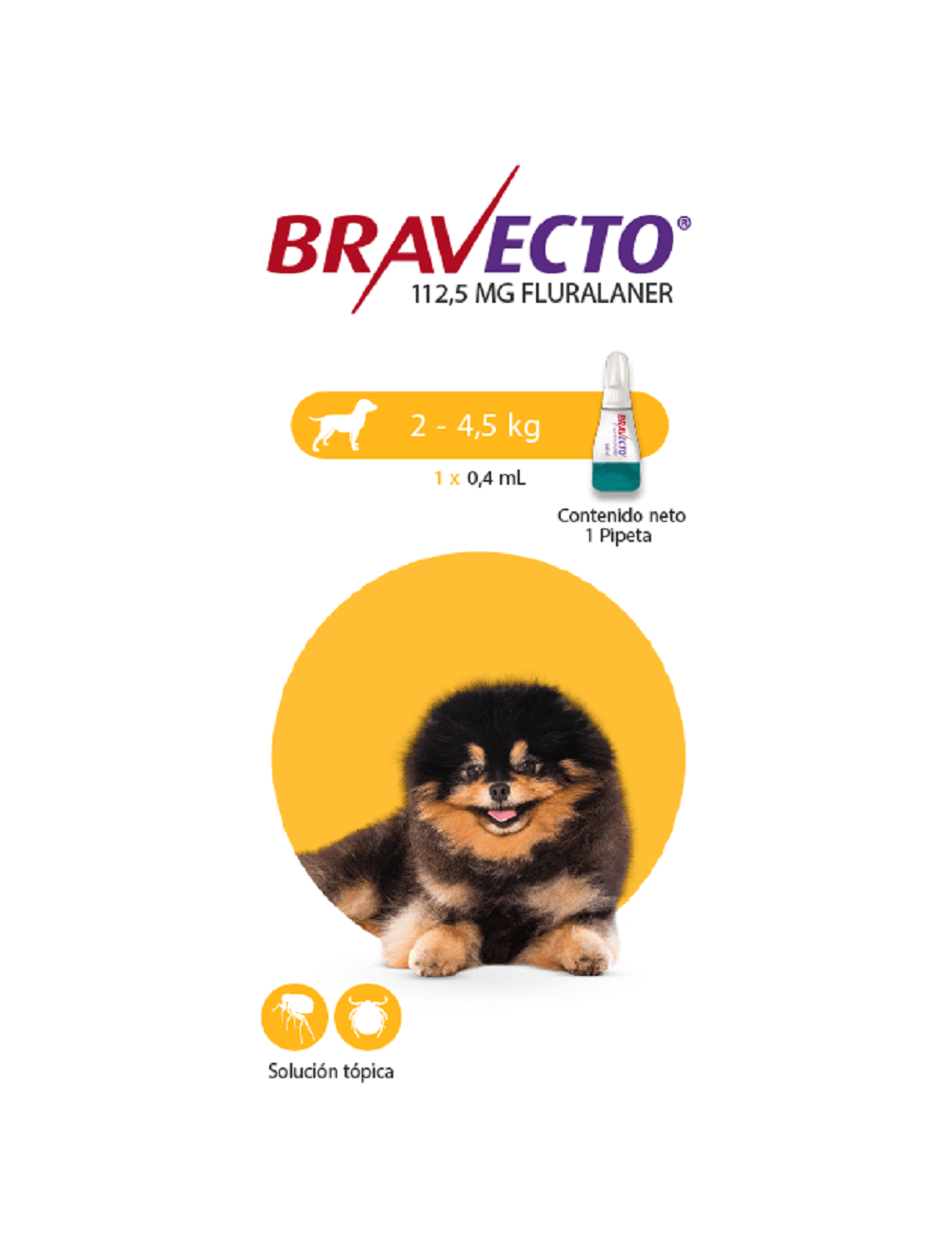 Antipulgas para perros Bravecto Spot on - Ciudaddemascotas