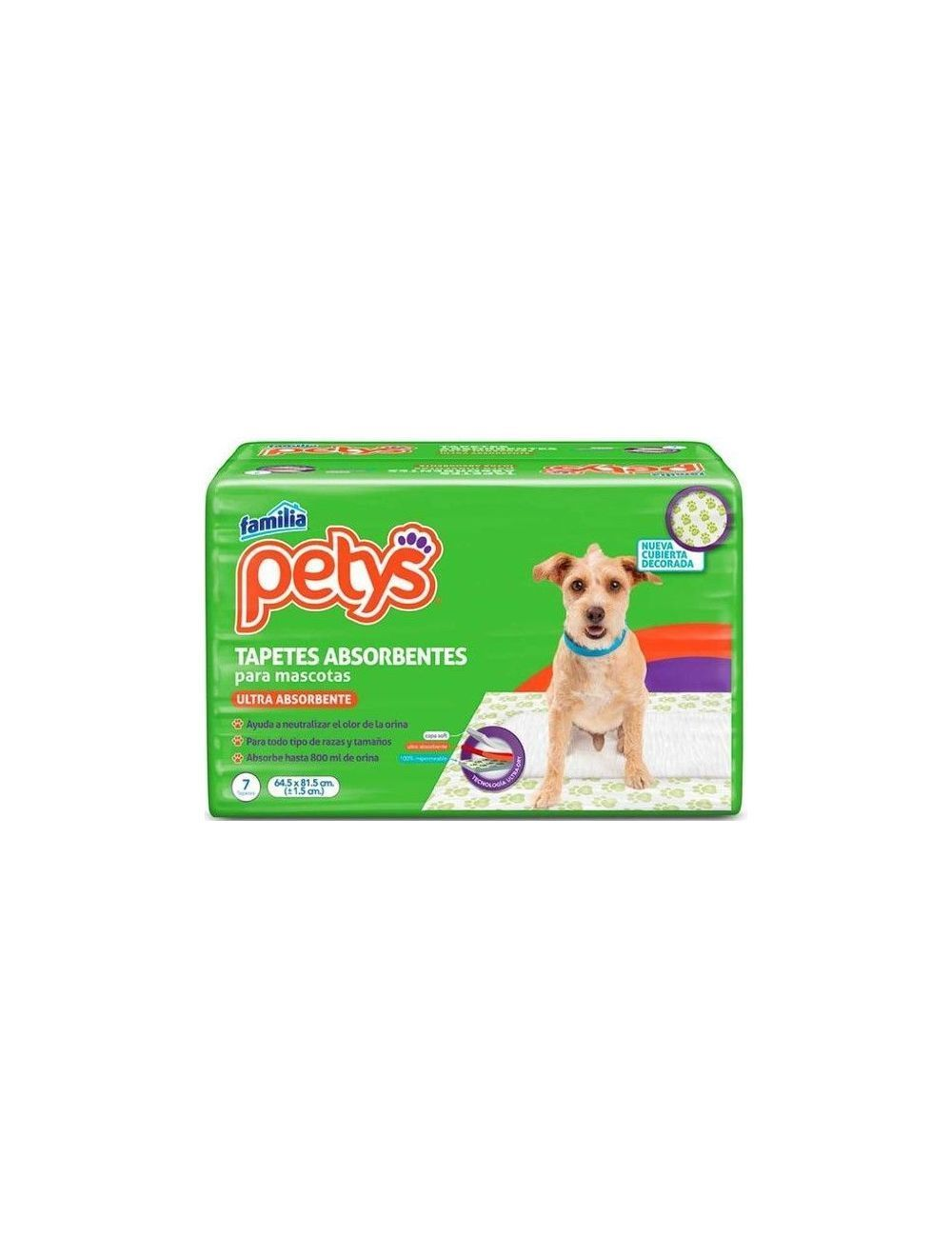 Tapetes Para Perros Petys Absorbentes Paquete x 7 tapetes - P80