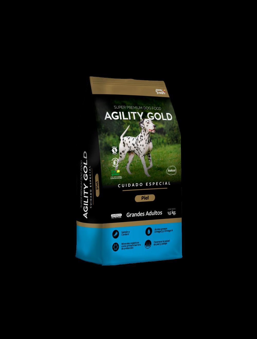Agility Gold Piel Grandes Adultos 1.5 Kg - Ciudaddemascotas.com
