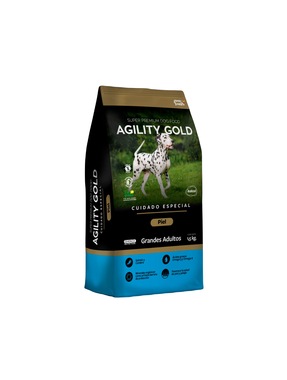Agility Gold Piel Grandes Adultos 8 Kg  - Ciudaddemascotas.com
