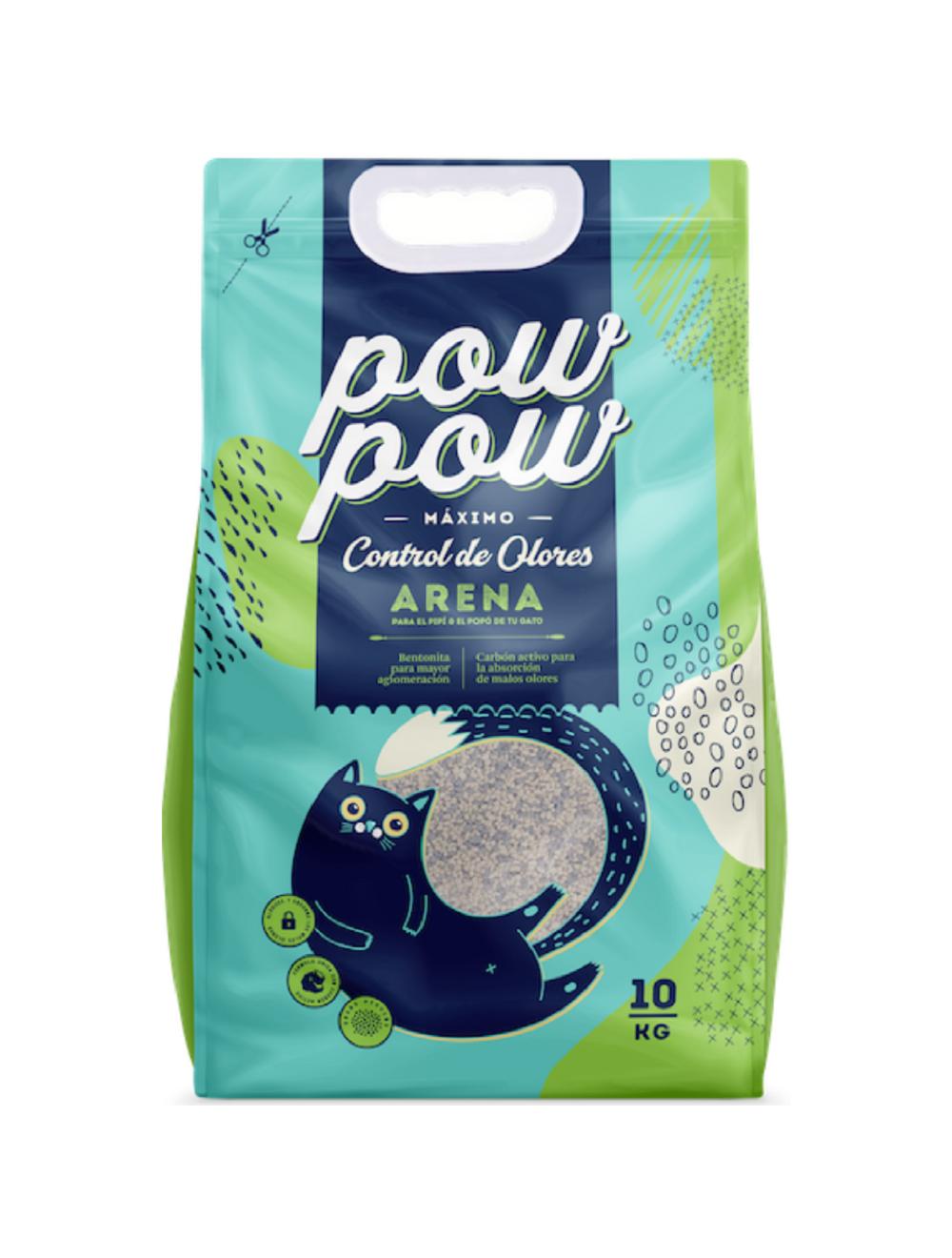 PowPow Arena Aglomerante 10 Kg - Ciudaddemascotas.com