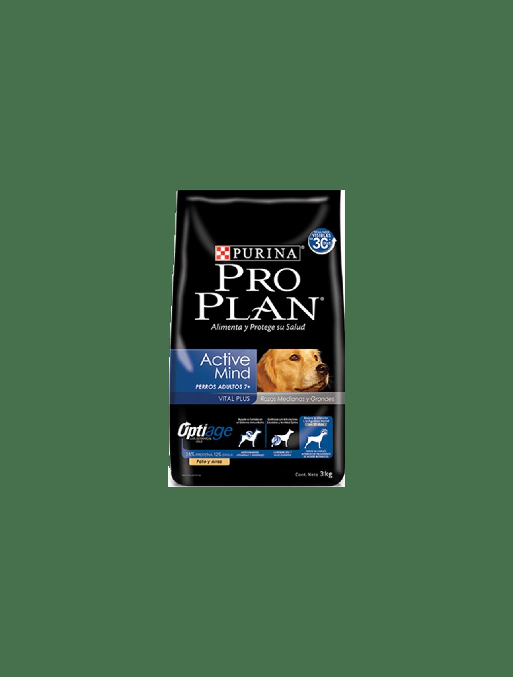 Pro Plan Perros 7+ Active Mind Razas Medianas y Grandes (3 Kg)